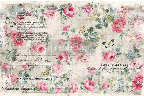 Re-Design Decoupage Paper  -FLORAL WALLPAPER