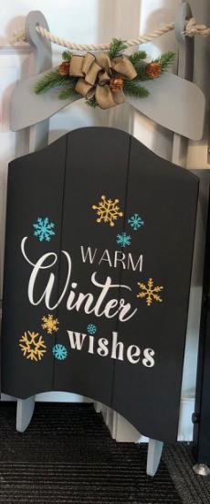 Warm Winter Wishes Decorative Sleigh