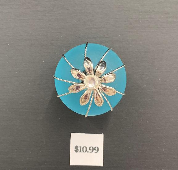 Blue Sea Glass Knob
