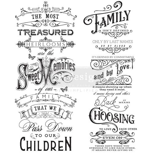 Re-Design Transfer - FAMILY HEIRLOOMS