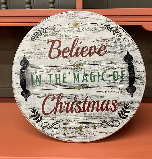 Believe in the Magic of Christmas Tray
