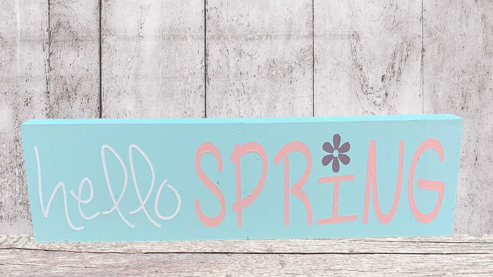 Spring Mini Word Blocks DIY