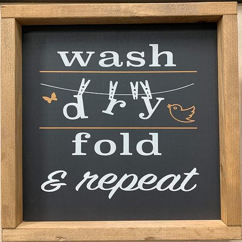 Wash Dry Fold 12x12