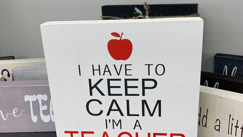 Keep Calm Teacher 5.5x5.5