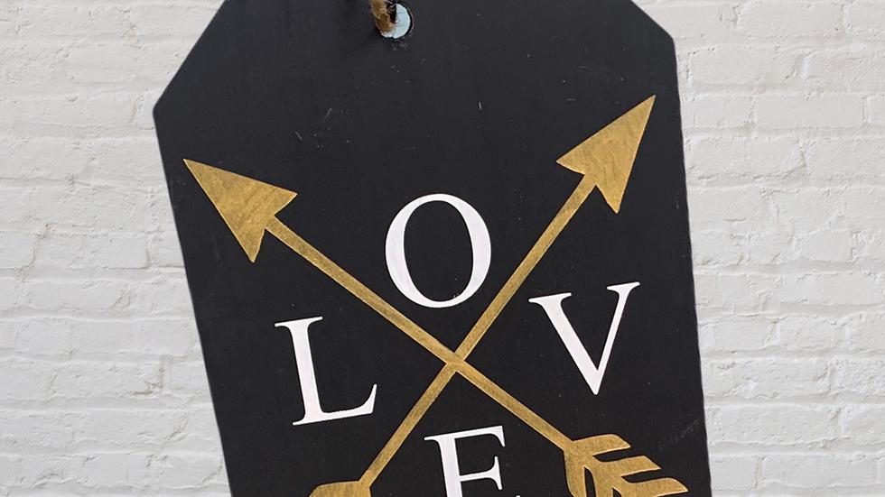 L O V E Large Door Tag