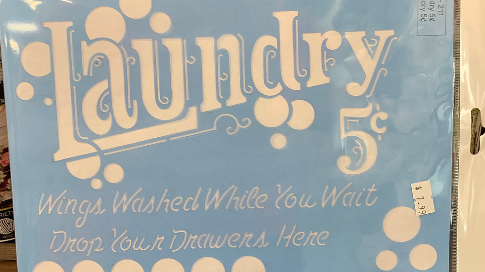 Laundry  Stencil
