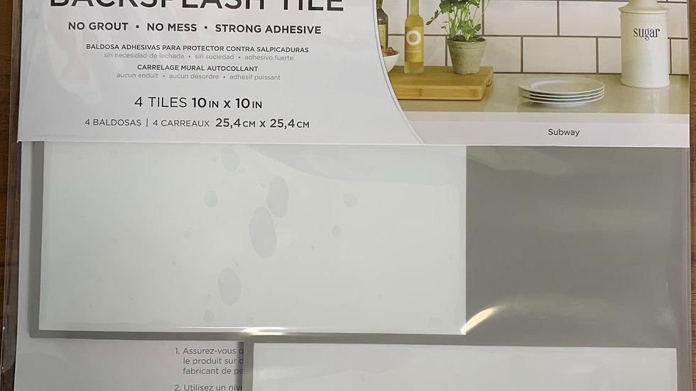 InHome Subway Tile Peel & Stick Backsplash Tiles