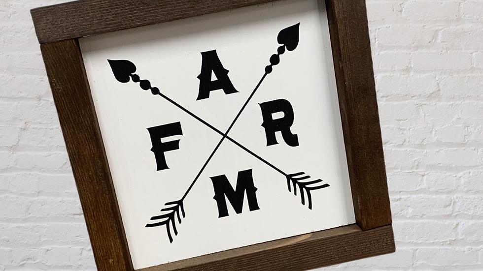 F A R M 7X7 Sign