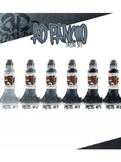 INCHIOSTRO PER TATUAGGI WORLD FAMOUS INK - AD PANCHO PASTEL GREY SET 6X30ML