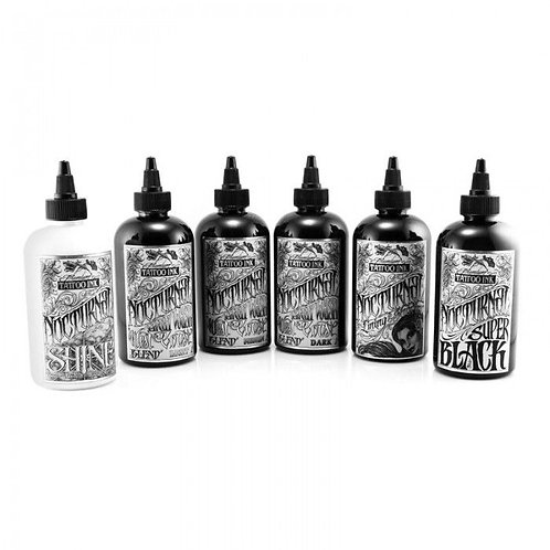 Nocturnal Tattoo Ink - Full Set of 6 Bottles 60 ml