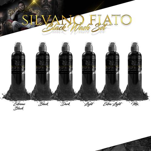 WORLD FAMOUS INK - SILVANO FIATO BLACK WASH SET - 4OZ - 6X120ML
