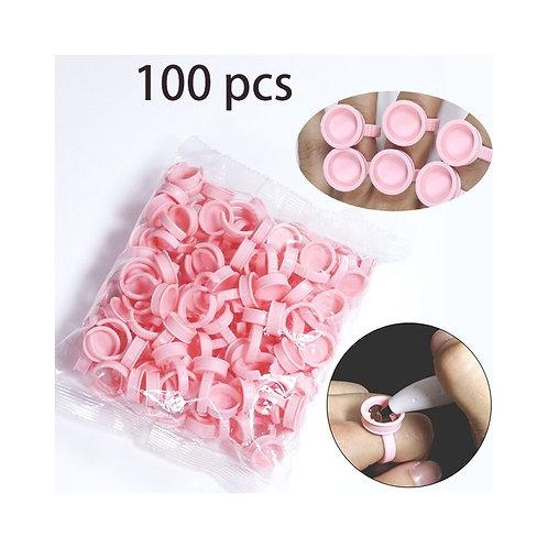 Anello da inchiostro monouso in plastica rosa 100pz