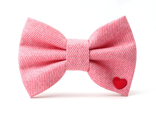 Pink Jeans   dog bow tie