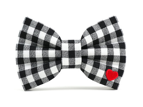 Classic Check | dog bow tie