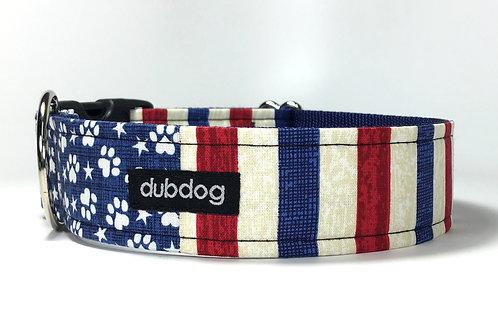 Freedom Stripes | dog collar