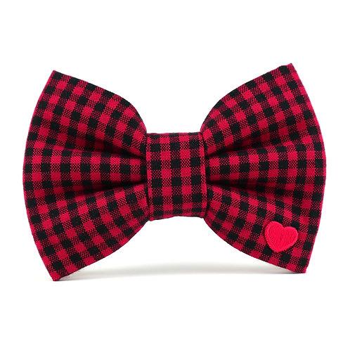 Cozy Check Mini | dog bow tie
