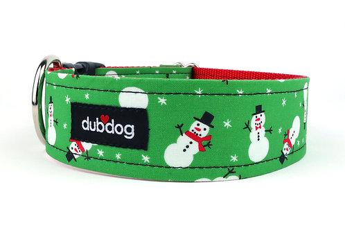 Snowmen   dog collar