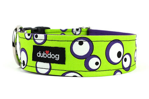 Googly-Lime | dog collar