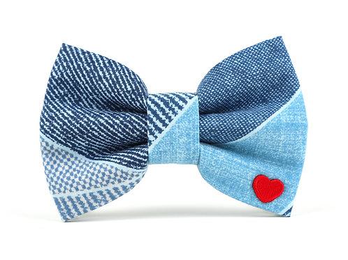 Denim Day | dog bow tie