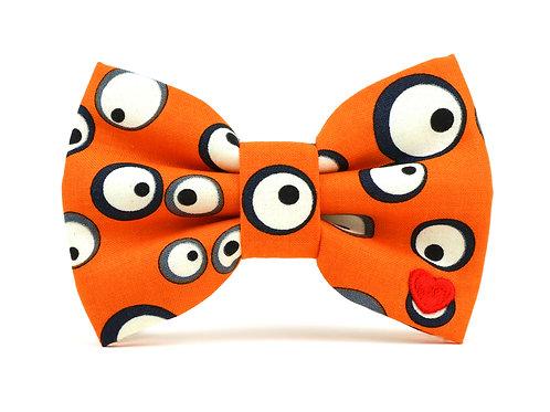 Googly-Orange | dog bow tie