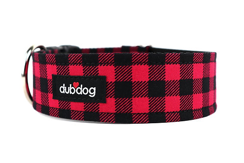 Cozy Check   dog collar