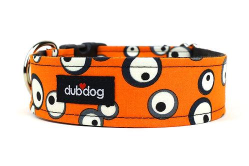 Googly-Orange | dog collar
