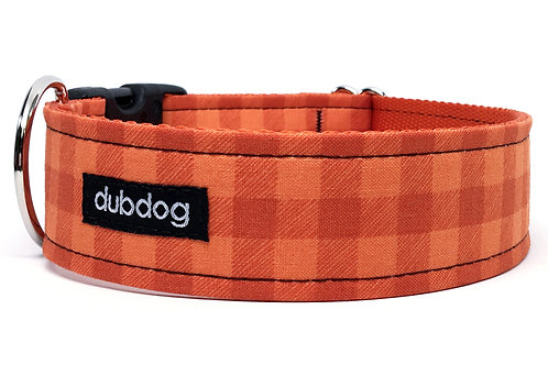 Canyon Check   dog collar