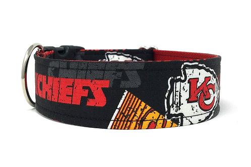 KC Chiefs Black | dog collar