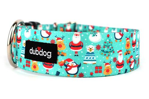 Santa N Friends   dog collar