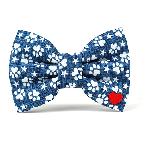 The Pawtriot | dog bow tie