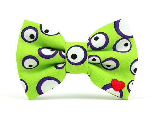 Googly-Lime | dog bow tie