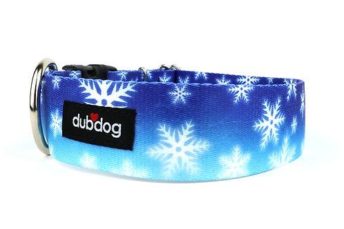 Snowflakes   dog collar