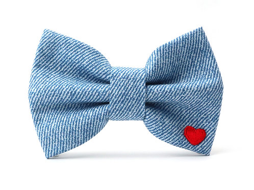 Blue Jeans   dog bow tie