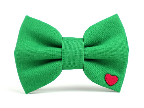 Holiday Green   dog bow tie