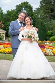 Brautpaar klassisch Kurpark Baden