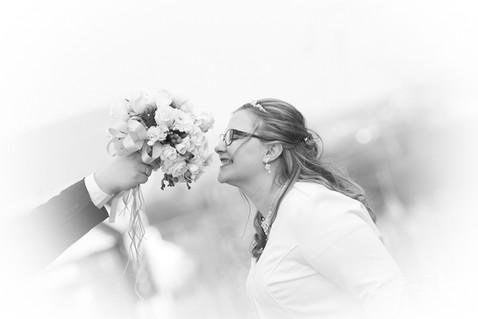 Blick auf den Brautstrauß