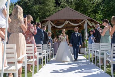 Brautpaar Auszug