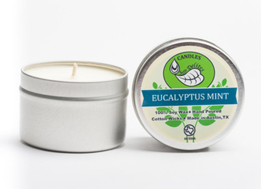 Eucalyptus Mint Travel Tin Candle