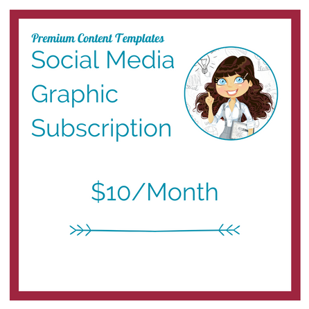 ZingPop Social Media Monthly Graphics Subscription