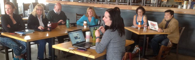 Tracey Lee Davis leads a workshop on soial media