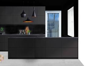 Unsere Küche wird ganz in Schwarz sein
