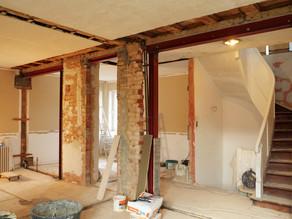 Große Renovierung, die Wände sind weg!