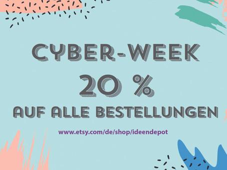 Cyber-Week: 20 % auf alle Bestellungen
