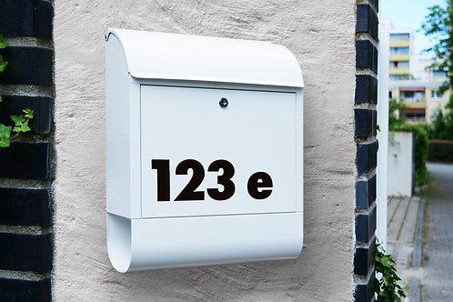 Aufkleber-Set für Hausnummer oder Briefkasten mit Buchstaben