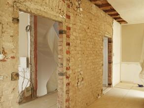 Große Renovierung, die Wände müssen weg