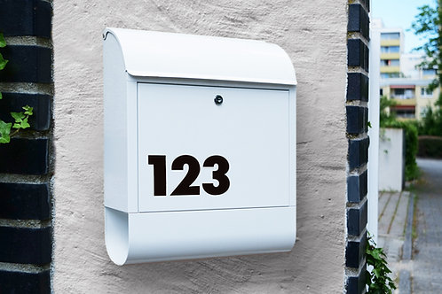 Aufkleber-Set für Hausnummer oder Briefkasten