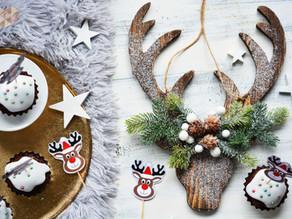 Rezept für Weihnachtsmuffins und Rentiere zum Ausdrucken, DIY
