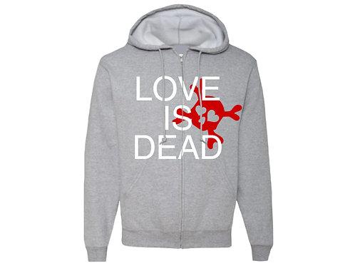 """""""Love Is Dead"""" Zip-Up"""