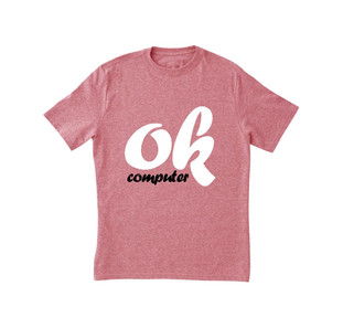 Rosa Computer stampa T-shirt ok