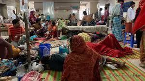 sick people ill patients no beds government hospital Dhaka